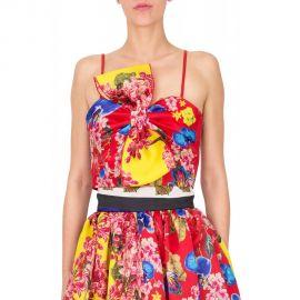 Leitmotiv Red Bow Crop Top at Dress On