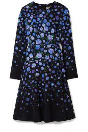 Lela Rose   Floral-print crepe dress at Net A Porter