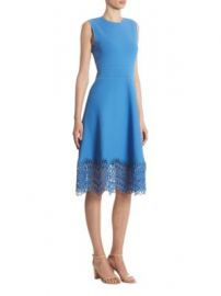 Lela Rose - Guipure Lace Dress at Saks Fifth Avenue