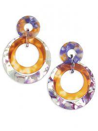 Lele Sadoughi - Banded Hoop Earrings at Saks Fifth Avenue