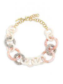 Lele Sadoughi - Crystal  amp  Acetate Triple Hoop Necklace at Saks Fifth Avenue