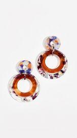 Lele Sadoughi Banded Hoop Earrings at Shopbop