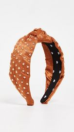 Lele Sadoughi Star Studded Silk Knotted Headband at Shopbop