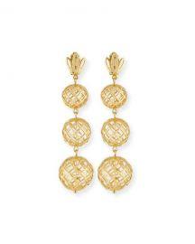 Lele Sadoughi Tiered Pineapple Drop Earrings   Neiman Marcus at One Kings Lane
