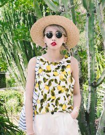 Lemon Print Top at Zara