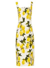 Lemon print dress by Dolce and Gabbana at Matches