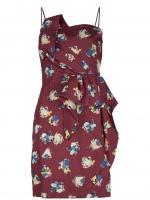 Lemon's burgundy dress at Farfetch
