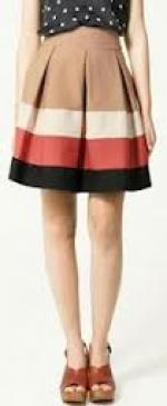 Lemons colorblock skirt at Zara