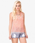 Lemon's pink sequin top at Forever 21