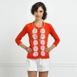 Lemons red and white cardigan at Kate Spade