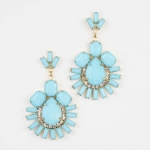 Lemon's turquoise flower earrings at Design Spark