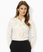 Lemon's white blouse by Ralph Lauren at Macys