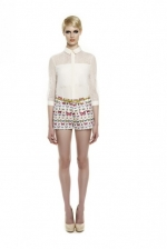 Lemons white lace blouse at Erinfetherston