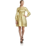 Lemons yellow gold dress at Saks at Saks Fifth Avenue