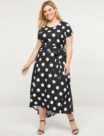 Lena High-Low Belted Maxi Dress at Lane Bryant