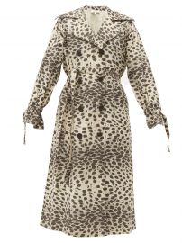 Leo leopard-print cotton trench coat at Matches