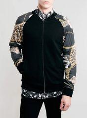 Leopard Baroque Bomber Jacket at Topman