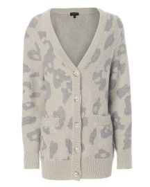Leopard Cardigan at Intermix