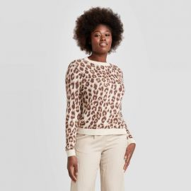 Leopard Crew Neck Pull Over by Target at Target