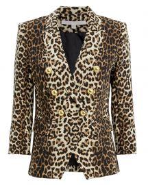 Leopard Empire Blazer at Intermix