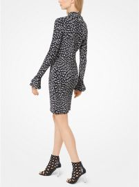 Leopard Jacquard Knit Dress by MICHAEL Michael Kors at Michael Kors