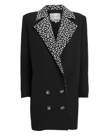 Leopard Lapel Suiting Blazer by Carmen March at Intermix