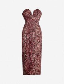 Leopard-Print Chiffon Midi Dress by Rasario at Selfridges