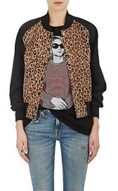 Leopard-Print Cotton-Blend Bomber Jacket by R13 at Barneys