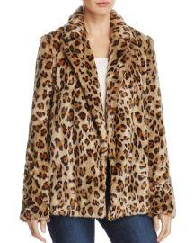 Leopard-Print Faux-Fur Coat at Bloomingdales