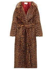 Leopard-Print Faux-Fur Wrap Coat by Sara Battaglia at Matches
