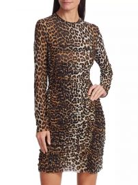 Leopard Print Mesh Dress by Ganni at Saks Fifth Avenue