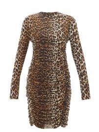 Leopard Print Mesh Dress by Ganni at Matches
