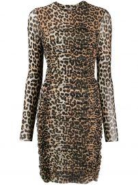 Leopard Print Mesh Dress by Ganni at Farfetch