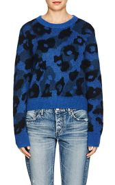 Leopard-Print Mohair-Blend Sweater at Barneys