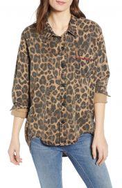 Leopard Print Oversized Shirt at Nordstrom Rack