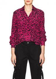 Leopard-Print Silk Blouse by Robert Rodriguez at Barneys