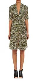 Leopard-Print Silk Crepe De Chine A-Line Dress at Barneys