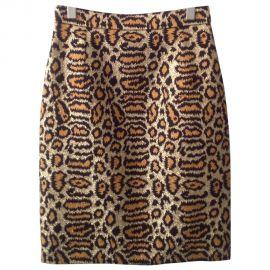 Leopard Print Silk Skirt by Saint Laurent at Saint Laurent