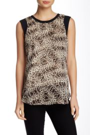 Leopard Print Sleeveless Chiffon Blouse at Nordstrom Rack
