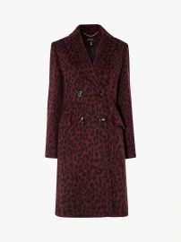 Leopard Print Tailored Coat at John Lewis