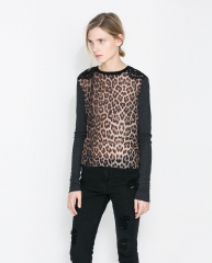 Leopard Print Tshirt at Zara