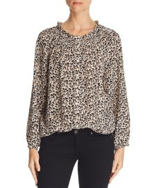 Leopard-Printed Silk Top at Bloomingdales