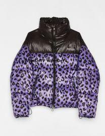 Leopard Puffer Jacket by Bershka at Bershka