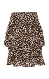 Leopard Silk Tiered Cascade Ruffle Skirt at Michael Kors