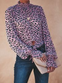 Leopard Spot Blouse by Vici at Vici