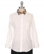 Leopard fur collar shirt at Ron Herman