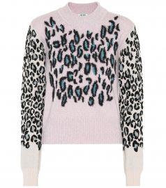 Leopard jacquard sweater at Mytheresa