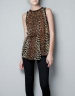 Leopard print blouse from Zara worn on Hart of Dixie at Zara