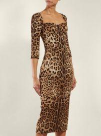 Leopard-print cady mini dress at Matches