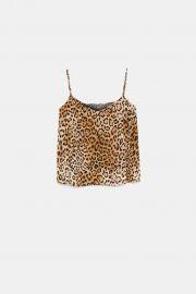 Leopard print cami by Zara at Zara